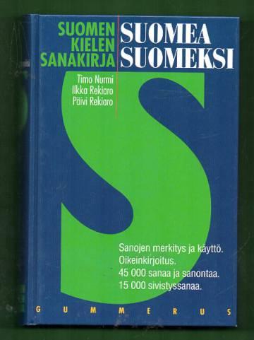 Suomen kielen sanakirja - Suomea suomeksi