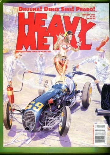 Heavy Metal Vol. XVIII #5 Jan 93