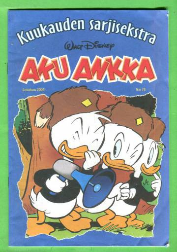 Aku Ankka - Kuukauden sarjisekstra 78: Lokakuu 2005