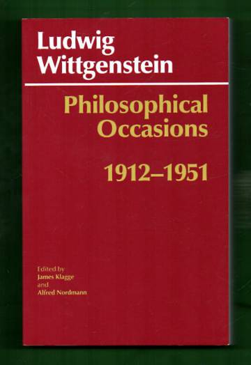 Philosophical Occasions - 1912-1951