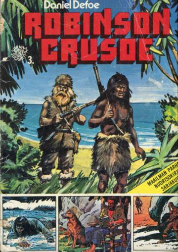 Sarjasuosikit 1/77 - Maailman parhaita nuorisokirjoja sarjakuvina 3: Robinson Crusoe