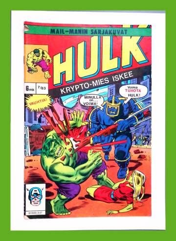 Vihreä mies Hulk 7/83