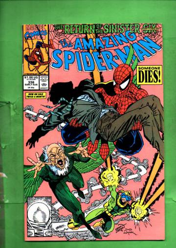 The Amazing Spider-man Vol 1 #336 Early Aug 90