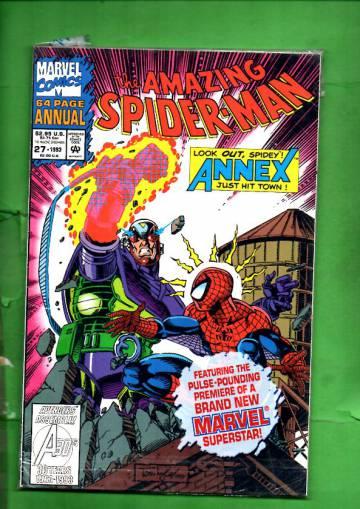 The Amazing Spider-Man Annual Vol. 1 #27 93 (avaamaton pakkaus, sisältää kortit)