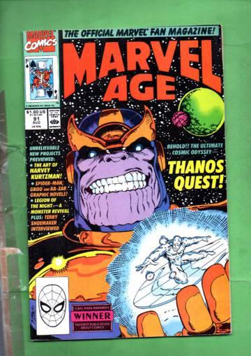 Marvel Age Vol. 1 #91 Aug 90