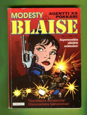 Agentti X9 -pokkari 1/92 - Modesty Blaise