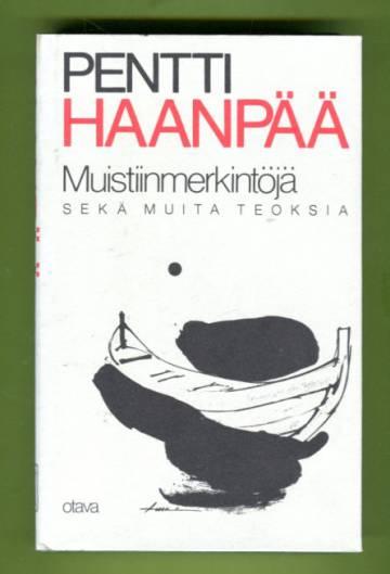 Muistiinmerkintöjä vuosilta 1925-1939 sekä muita teoksia