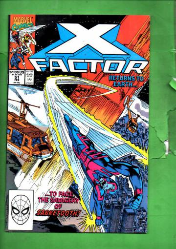 X-Factor Vol 1 #51 Feb 90