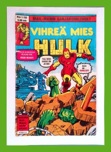 Vihreä mies Hulk 1/83