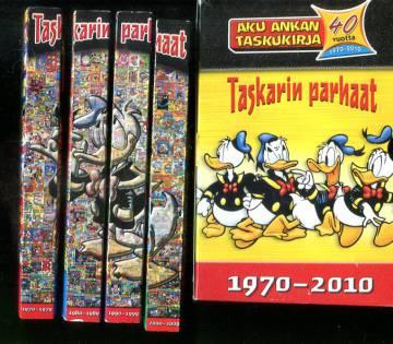 Aku Ankka - Taskarin parhaat 1-4: 1970-2010 + säilytyslaatikko (Aku Ankan taskukirja)