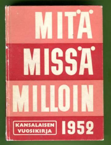 Mitä Missä Milloin 1952 (MMM)