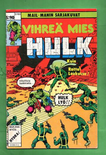 Vihreä mies Hulk 2/83