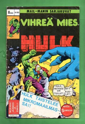 Vihreä mies Hulk 6/83