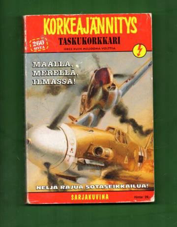 Korkeajännitys - Taskukorkkari 1/97: Maalla, merellä, ilmassa!