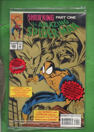 The Amazing Spider-Man Vol. 1 #390 Jun 94 (avaamaton pakkaus, sisältää liitteen)