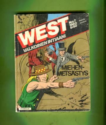 West - valkoinen intiaani 7/80 - Miehen metsästys