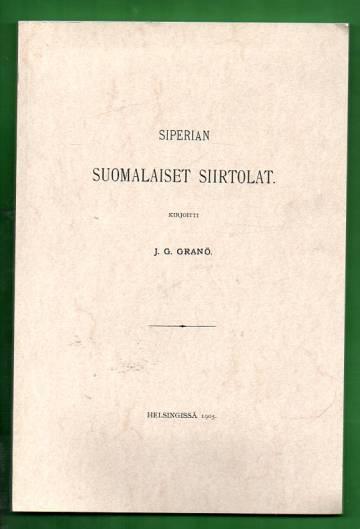 Siperian suomalaiset siirtolat