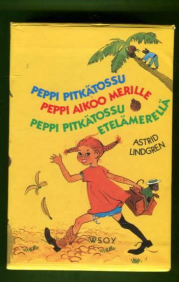 Peppi Pitkätossu / Peppi aikoo merille / Peppi Pitkätossu Etelämerellä + säilytyskotelo