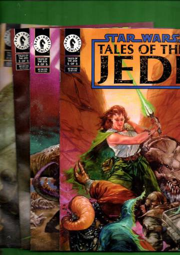 Star Wars: Tales of the Jedi #1-5, Oct 93 -Feb 94 (Whole miniserie)