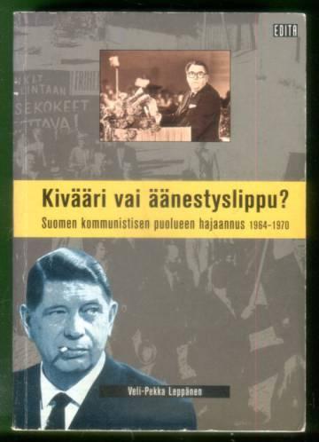 Kivääri vai äänestyslippu? Suomen kommunistisen puolueen hajaannus 1964-1970