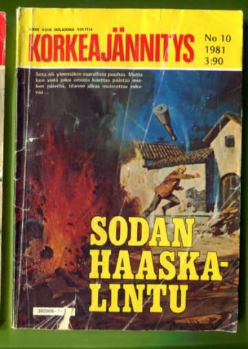 Korkeajännitys 10/81 - Sodan haaskalintu