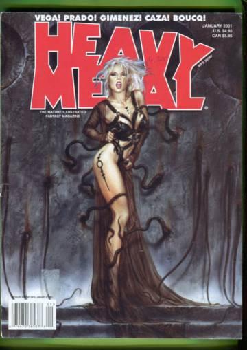 Heavy Metal Vol XXIV No 6, January 2001