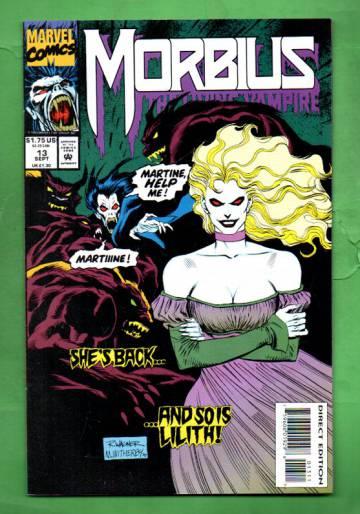 Morbius: The Living Vampire Vol.1 #13 Sep 93