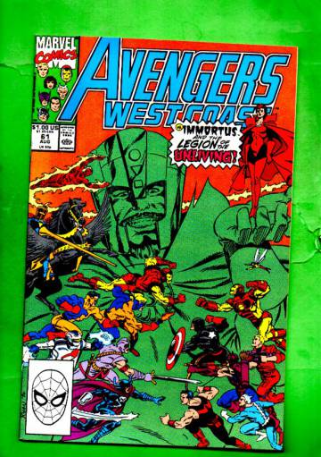 West Coast Avengers Vol.2 #61 Aug 90