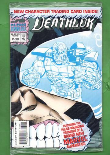 Deathlok Annual Vol. 2 #2 Oct 93 (avaamaton pakkaus, sisältää kortit)