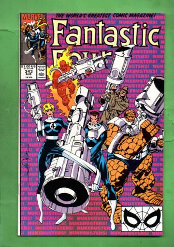 Fantastic Four Vol 1 #343 Aug 90