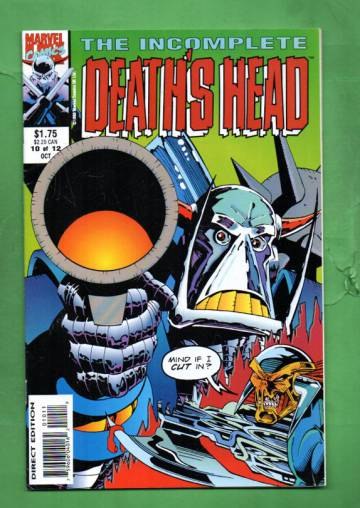 Incomplete Death's Head Vol. 1 #10 Oct 93