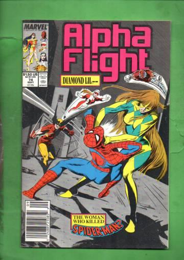Alpha Flight Vol 1 #74 Sep 89