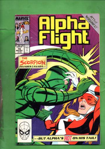 Alpha Flight Vol. 1 #79 Mid Dec 89