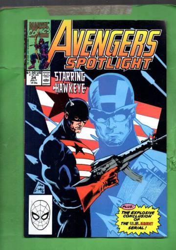 Avengers Spotlight Vol 1 #34 Jul 90