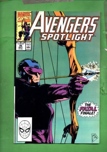 Avengers Spotlight Vol 1 #36 Sep 90