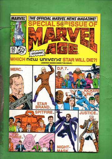 Marvel Age Vol. 1 #50 May 87
