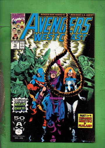 Avengers West Coast Vol 2 #76 Nov 91