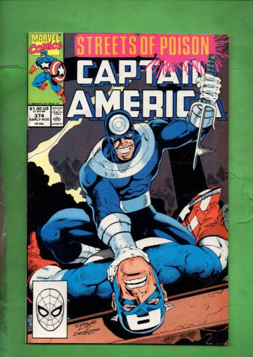 Captain America Vol. 1 #374 Early Aug 90