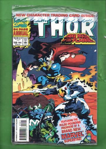 The Mighty Thor Annual Vol. 1 #18 93 (avaamaton pakkaus, sisältää kortit)