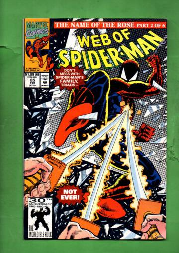 Web of Spider-Man Vol. 1 #85 Feb 92