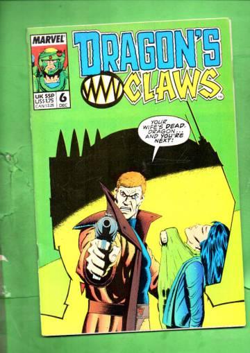 Dragon's Claws Vol. 1 #6 Dec 88