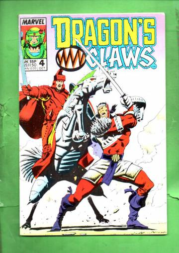 Dragon's Claws Vol. 1 #4 Oct 88