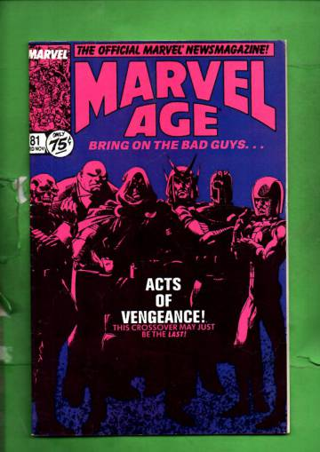Marvel Age Vol. 1 #81 Mid Nov 89