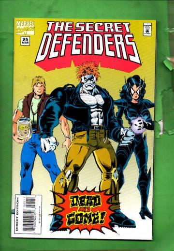 Secret Defenders Vol. 1 #25 Mar 95