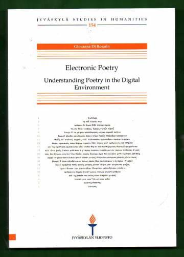 Electronic Poetry - Understanding Poetry in the Digital Enviroment