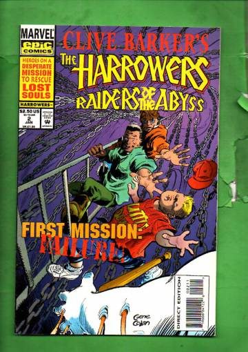 Clive Barker's the Harrowers Vol. 1 #2 Jan 94