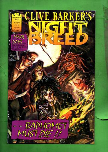 Clive Barker's Night Breed Vol. 1 #21 Nov 92