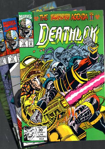 Deathlok Vol 1 #12-15: The Biohazard Agenda #1-4 Jun-Sep 92