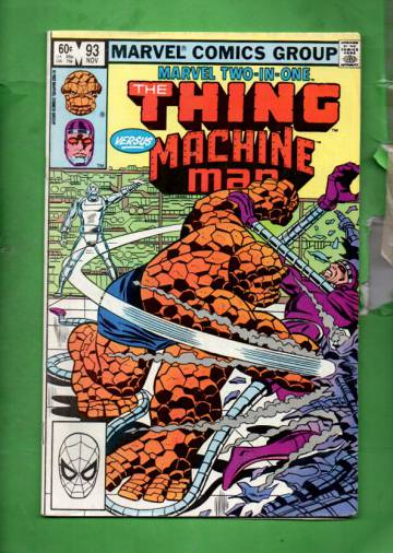 Marvel Two-In-One featuring The Thing Vol 1 #93 Nov 82