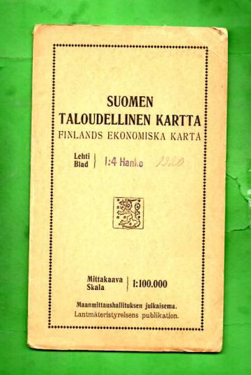 Suomen Taloudellinen Kartta Lehti I 4 Hanko Tekija Ei Tiedossa